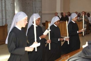 Little Sisters making their perpetual vows