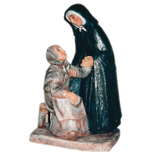 St Jeanne Jugan welcomes the first old lady into her home